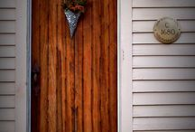 New England Doorways / Open the door to New England's most beautiful homes, fascinating places and you will find history, craftsmanship and sometimes even a bit of folklore.  Beautiful doorways that tell a story with just a look.