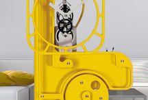 Horloges comtoises contemporaines UTINAM Besançon Pop Up orange / horloges mécaniques comtoises modernes