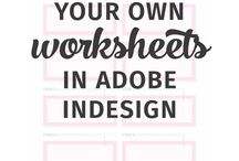 Adobe InDesign Tips Tricks and Tutorials / I teach people how to do graphic design, brush lettering & creative biz. Video tutorials each week + free downloads! Click to access! http://bit.ly/creativeba / by Holly McCaig Creative