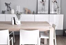 Inspiracje dla Alicji - Drewniany stół w jadalni