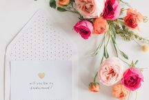 Calligraphy & Bridesmaids' Proposal