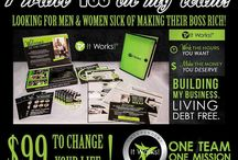 Stuff to Buy / I sell It Works Products, have you heard of that crazy wrap thing, well I sell them, I am also looking for people to join my team, I am getting busy, I love this business, cause you can work your own hours and your own pace.