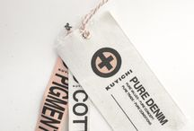 • SWING TAGS | LABELS • / Swing tags + Clothing labels