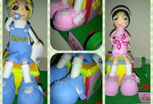 Fofuchas / Muñecas personalizadas con goma eva