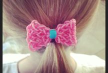 loom band hair accessories