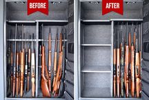 Before & Afters Pictures from customers / Our customers are so great to send in their before and after pictures to document their safe transformations.  Check out all of the different gun safes and gun collections stored using our Rifle Rods and Handgun Hangers.