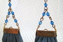Handbags at ears' length; the lobes have it! / Handbag earrings for the discerning and pierced.