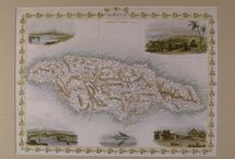 Historic Maps / maps of historic Caribbean Islands, Great Britain, and the southern U.S.