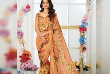 ZEBAA Designer Printed Casual Wear Sarees' Catalog Wholesale/Retail