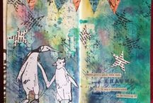My own work / I love to art journal, make tags and generally have a great time with inks, rubber stamps and paint!  Visit my blog 'The Art of Moodling'  http://sarahanderson1.blogspot.co.uk/