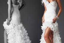 Svatební šaty - krátké/dlouhé