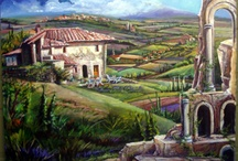 PAINTINGS OF ITALY ~ KATHLEEN CARRILLO / Favorite visiting spots in Italy with an Architectural Twist, paintings by Kathleen Carrillo