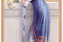 Art Nouveau ladies