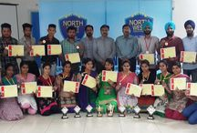 Inter College Annual Function / The Director Dr. NK Maheshwary and Dr. RK Maheshwary (Dean P&D) honouring the winners of various events : - Bhangra, Gidda, Extempore, Poster Making, Rangoli and solo Dance etc. of Inter-College annual function held at Ferozshah  #NortwhwestGroup Laurels  visit:- www.northwest.ac.in