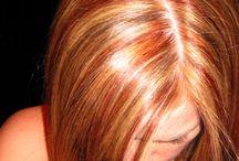 Red hair streaks