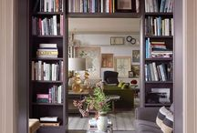 """We love books! / Book related things, mainly storage ideas as we love having books around us at home.   """"A home without books is a body without soul."""" Marcus Tullius Cicero"""