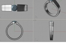 Design your Bespoke ring / Images to show what is involved in the creation of your bespoke ring