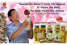 DXN products with Ganoderma / You can find description in about DXN Ganoderma medicinal mushroom products in this brochure in English language.   For more information visit:  http://dxncoffeemagic.com/