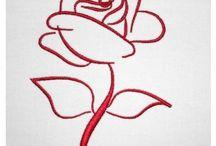 kirigami trandafiri