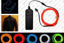 EL Wire / Steal the show with the EL (Electro Luminescent) wire from LED Montreal. http://ledmontreal.com/en/el-wire-and-el-wire-accessories/ Get a futuristic look for your Halloween costume, party setup, the inside of your car, your stage installations or basically any decoration.