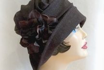 Winter Hats / Beautiful Art Deco period Hats with a present day twist! Totally wearable and functional for Fall and Winter