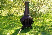 Paleniska i kominki / Idealne kominki na chłodne wieczory w ogrodzie lub na tarasie. Z kominka szybko wydobywa się przyjemne ciepło. Mogą być traktowane również jako odstraszacz na owady.
