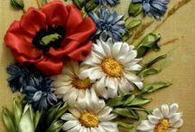 маки ромашки полевые цветы