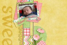 Livi's Smile Digital Scrapbooking Collection by Kathryn Estry / Named after one of my sweet granddaughters, Olivia, this fresh spring and summer collection will be a joy to work with.