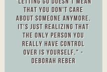 Letting go / Moving on