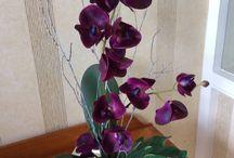 Silk flower arrangements / Handcrafted unique silk flower designs