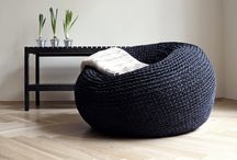 Crochet bean bag