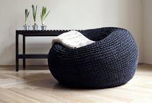 Crochet bean bag