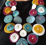Feltro / oggettistica fai da te iin feltro, borse, decorazioni natale, calze befana, pantofole, gioielli