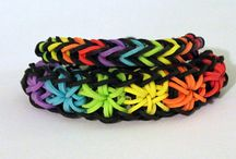 Rainbow Loom Rubber Band Starburst Bracelets / Different loom rubber band starburst bracelets by users