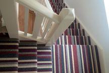 carpet staircase | tapijt op de trap / Tapijt op de trap is niet alleen mooi, het zorgt ook voor een goede demping van geluid | carpet on your staircase looks nice and provides good sound insulation