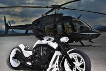 Helicopter and bike