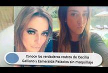 Conoce los verdaderos rostros de Cecilia Galliano y Esmeralda Palacios sin maquillaje