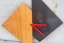 Horloge Chêne/Carbone / #bois #wood #création #horloge #pendule #design #carbone #mobilier #cabinet maker #resin #bois/résine #interior design