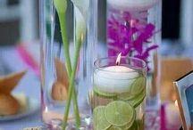 Kwiaty dekoracja  stół