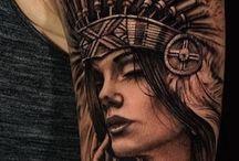 Indianer Häuptlings Tattoo