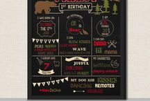 Chalkboard Signs - First Birthday Chalkboard