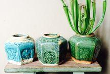 gember potten / ginger jars / groene gember potten