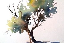 arbre aquarelle facile