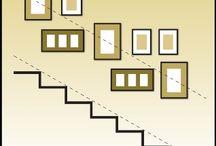 Bilderwand Treppenhaus
