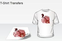 T-Shirt Printing / T-Shirt Transfers are printed on white heat transfer paper. After printing, you transfer the design onto cloth using a Heat Press.