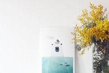 print decor/ ilustraciones para colgar / ilustraciones y laminas para decorar