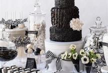 Black and white wedding ideas / Stunning wedding ideas in shades of black and white