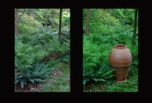 Before and After / These pots were placed in a residential garden in Harvard, MA for a garden tour. We took before and after shots to highlight the difference a garden pot can make.