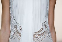 Lace embroidery dresses