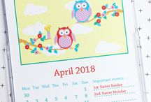 2018 and 2019 calendars